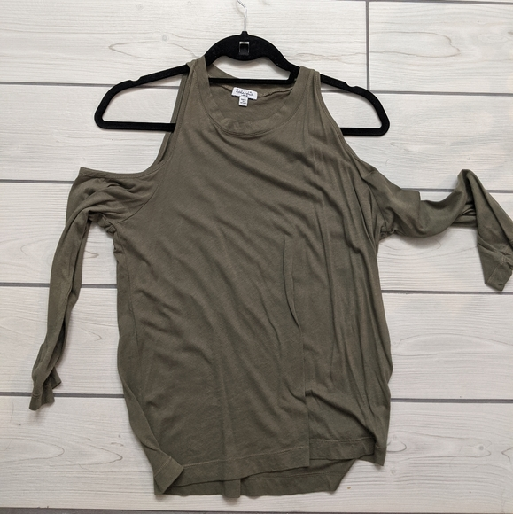 Splendid Tops - Olive cold shoulder top